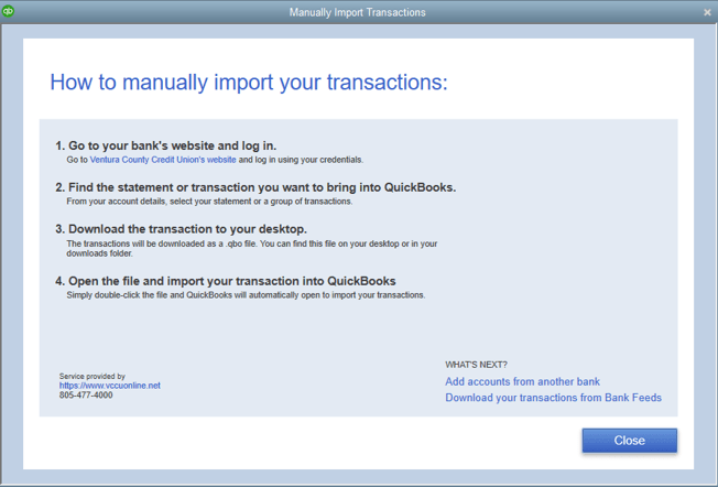 Importing Transactions into QuickBooks Desktop - Vendorsync